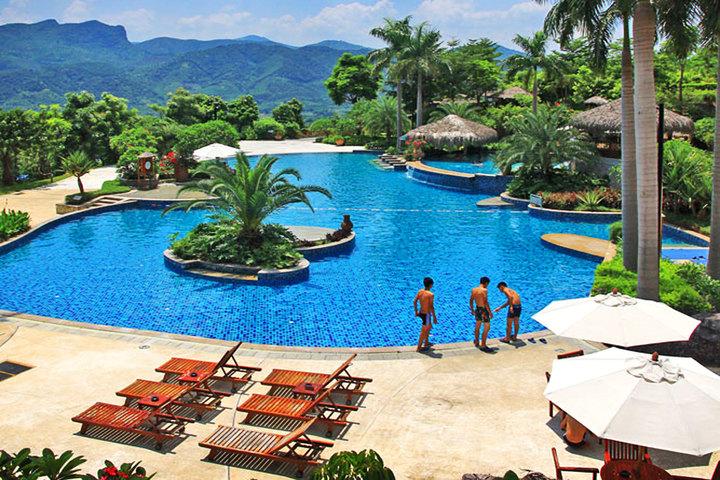 广州增城金叶子温泉度假酒店游泳池