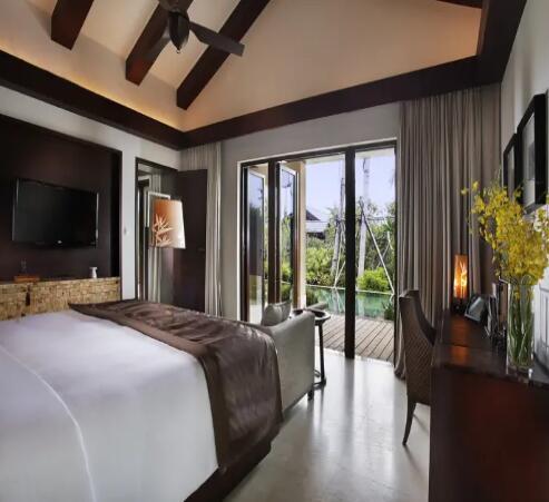 海南香水湾君澜度假酒店雅致君澜居一大一双两居别墅