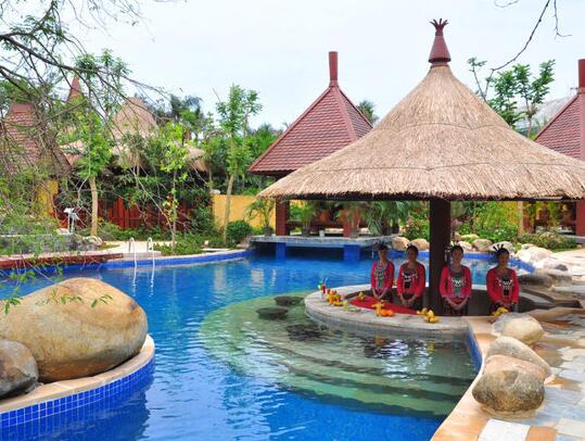 三亚南田温泉好汉坡国际度假酒店温泉池